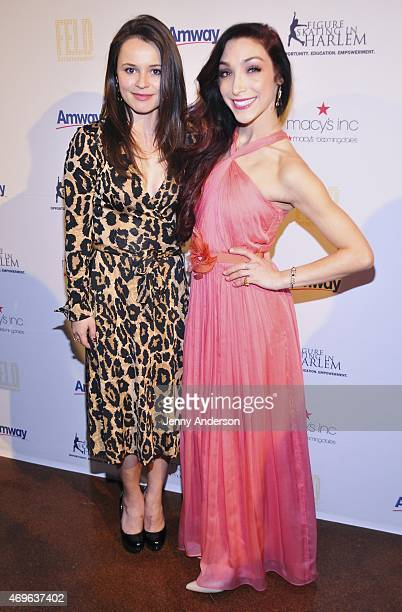 Sasha Cohen and Meryl Davis attend the 10th Annual Skating With The Stars Benefit Gala at 583 Park Avenue on April 13 2015 in New York City