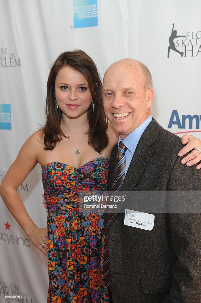 Sasha Cohen and Scott Hamilton attend The 2013 Skating With The Stars Benefit Gala at Trump Rink at Central Park on April 8, 2013 in New York City.
