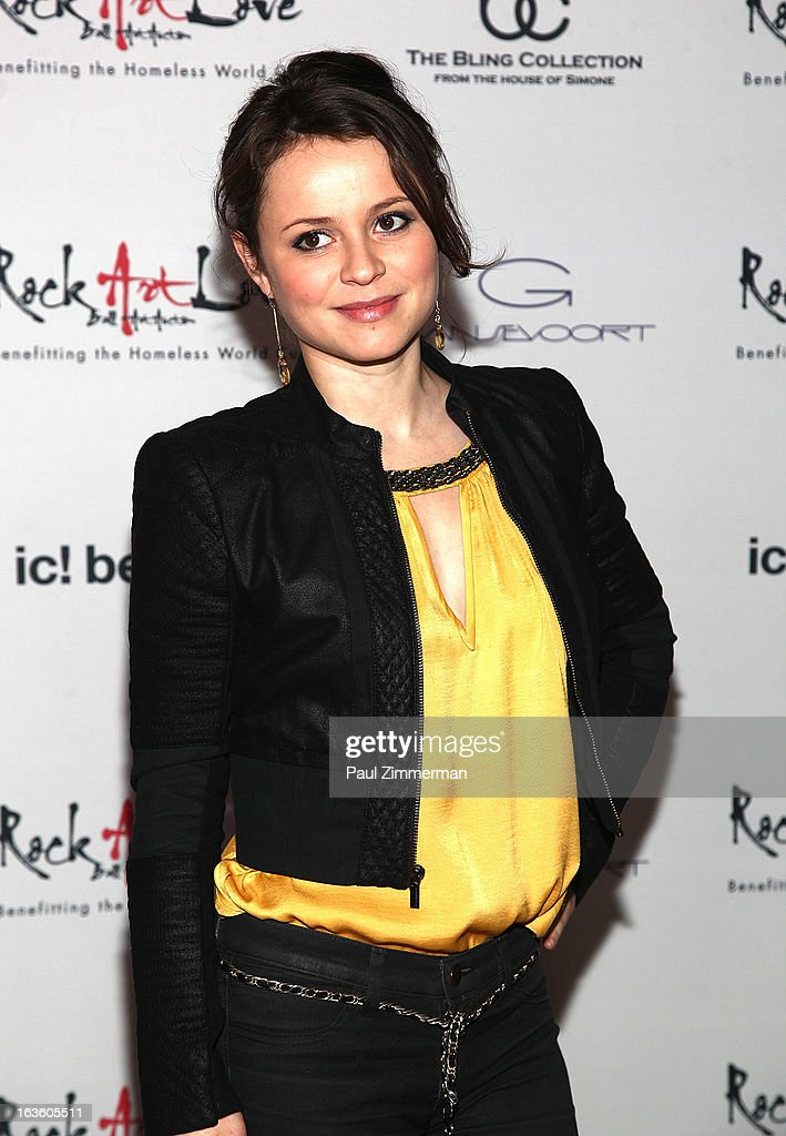 <a gi-track='captionPersonalityLinkClicked' href=/galleries/search?phrase=Sasha+Cohen+-+Figure+Skater&family=editorial&specificpeople=171109 ng-click='$event.stopPropagation()'>Sasha Cohen</a> attends ROCK ART LOVE at The Angel Orensanz Foundation on March 12, 2013 in New York City.