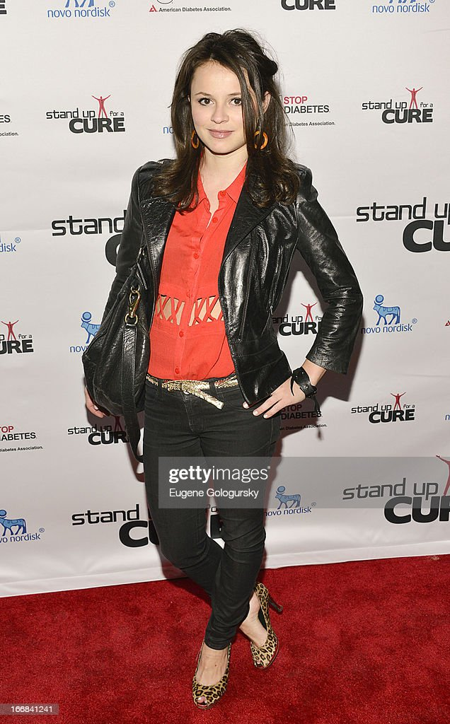 <a gi-track='captionPersonalityLinkClicked' href=/galleries/search?phrase=Sasha+Cohen+-+Figure+Skater&family=editorial&specificpeople=171109 ng-click='$event.stopPropagation()'>Sasha Cohen</a> attends Stand Up For A Cure 2013 at The Theater at Madison Square Garden on April 17, 2013 in New York City.