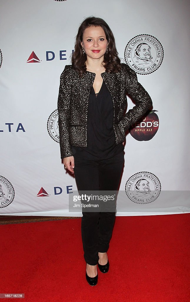<a gi-track='captionPersonalityLinkClicked' href=/galleries/search?phrase=Sasha+Cohen+-+Figure+Skater&family=editorial&specificpeople=171109 ng-click='$event.stopPropagation()'>Sasha Cohen</a> attends The Friars Club Roast Honors Jack Black at New York Hilton and Towers on April 5, 2013 in New York City.