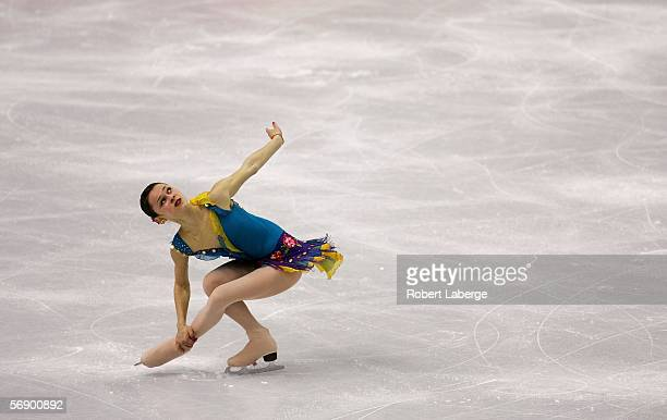 Sasha Cohen of the United States performs during the women's Short Program of the figure skating during Day 11 of the Turin 2006 Winter Olympic Games...