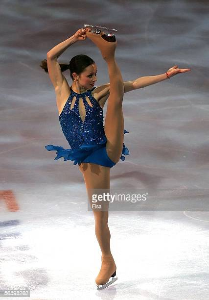 Sasha Cohen performs during the 2006 State Farm US Figure Championships Exhibition at the Savvis Center on January 15 2006 in St Louis Missouri Cohen...