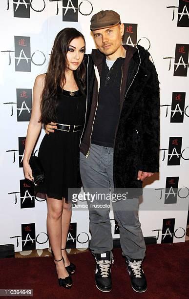 Sasha Grey and Billy Corgan arrive at Sasha's 21st Birthday at Tao Las Vegas on March 14 2009 in Las Vegas Nevada