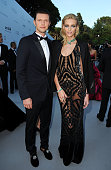 Sasha Knezevic and Anja Rubik arrive at the 2012 amfAR's Cinema Against AIDS during the 65th Annual Cannes Film Festival at Hotel Du Cap on May 24...