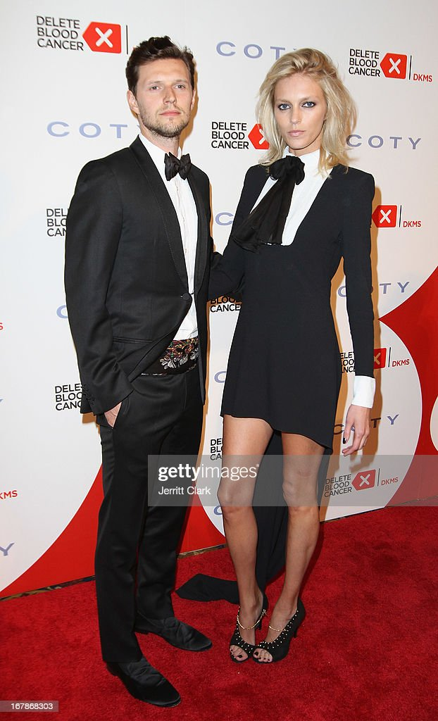 Sasha Knezevic and Model Anja Rubik attend the 2013 Delete Blood Cancer Gala at Cipriani Wall Street on May 1, 2013 in New York City.
