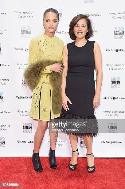 Sasha Lane and Joana Vicente attend the 26th Annual Gotham Independent Film Awards at Cipriani Wall Street on November 28 2016 in New York City