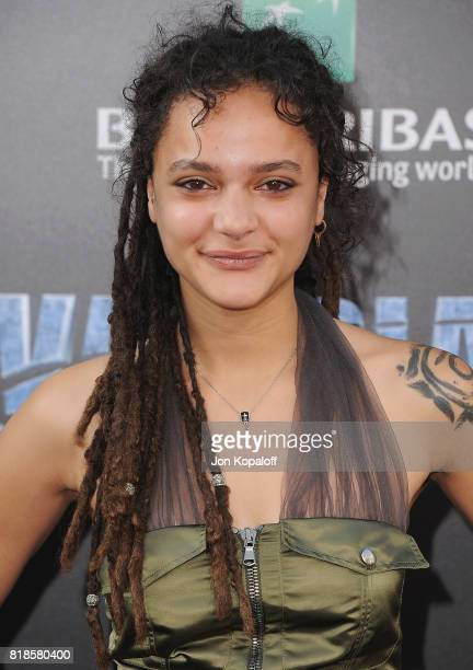 Sasha Lane arrives at the Los Angeles Premiere 'Valerian And The City Of A Thousand Planets' at TCL Chinese Theatre on July 17 2017 in Hollywood...