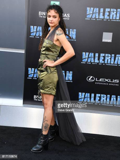 Sasha Lane arrives at the Premiere Of EuropaCorp And STX Entertainment's 'Valerian And The City Of A Thousand Planets' at TCL Chinese Theatre on July...