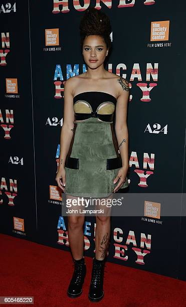 Sasha Lane attends 'American Honey' New York premiere at Landmark's Sunshine Cinema on September 13 2016 in New York City