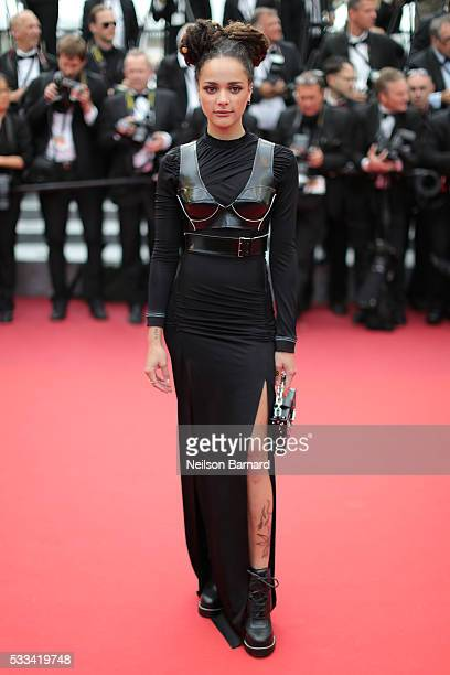 Sasha Lane attends the closing ceremony of the 69th annual Cannes Film Festival at the Palais des Festivals on May 22 2016 in Cannes France