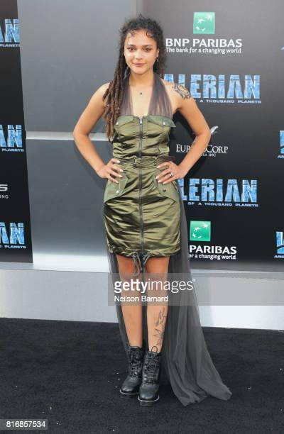 Sasha Lane attends the premiere of EuropaCorp and STX Entertainment's 'Valerian and The City of a Thousand Planets' at TCL Chinese Theatre on July 17...