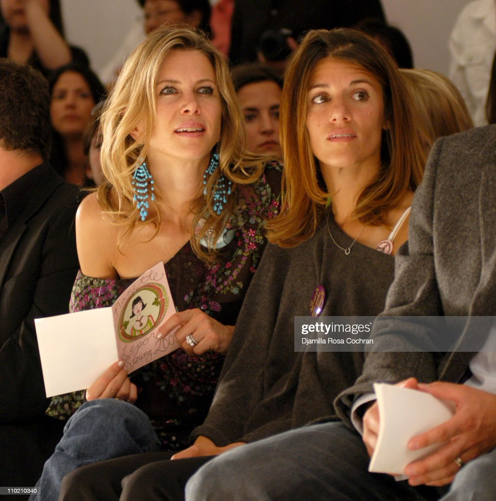 Sasha Lazard and Alison De Noia during Olympus Fashion Week Spring 2005 - Nanette Lepore - Front Row and Backstage at Plaza Tent, Bryant Park in New York City, New York, United States.
