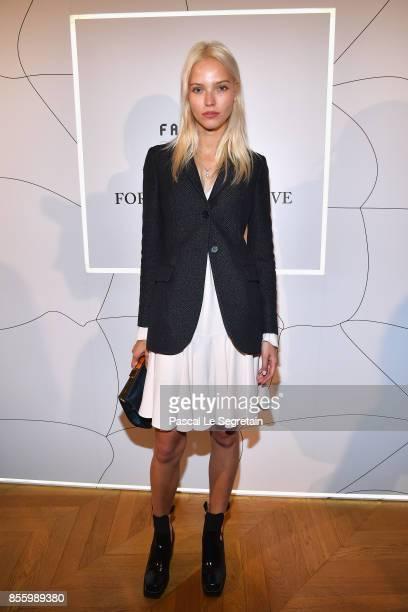 Sasha Luss attends the Buro 24/7 X Farfetch Fashion Forward Initiative as part of the Paris Fashion Week Womenswear Spring/Summer 2018 at Hotel...