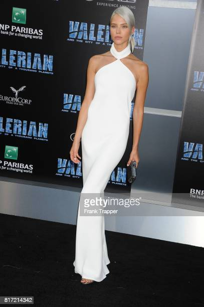 Sasha Luss attends the premiere of EuropaCorp and STX Entertainment's 'Valerian and The City of a Thousand Planets' held at TCL Chinese Theatre on...