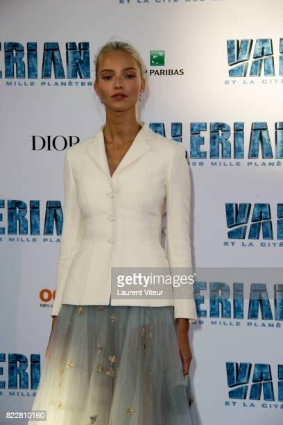 Sasha Luss attends 'Valerian et la Cite desMille Planetes' Paris Premiere at La Cite Du Cinema on July 25 2017 in SaintDenis France