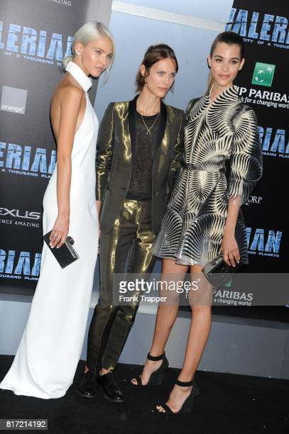 R Sasha Luss Aymeline Valade and Pauline Hoarau attend the premiere of EuropaCorp and STX Entertainment's 'Valerian and The City of a Thousand...
