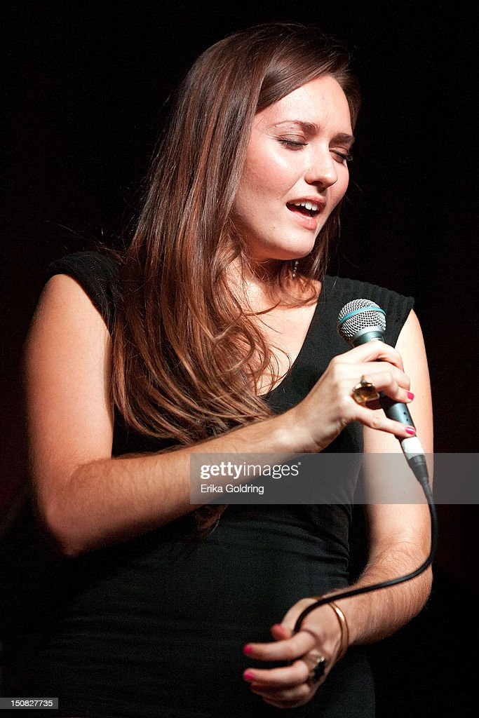 Sasha Masakowski performs during Love Moments: A Festival of Giving at Irvin Mayfield's I Club on August 26, 2012 in New Orleans, Louisiana.