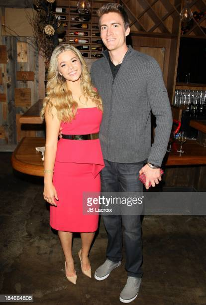 Sasha Pieterse and her boyfriend attend the Pretty Pink Beauty Night hosted by Sasha Pieterse of 'Pretty Little Liars' held at Tiato on October 14...