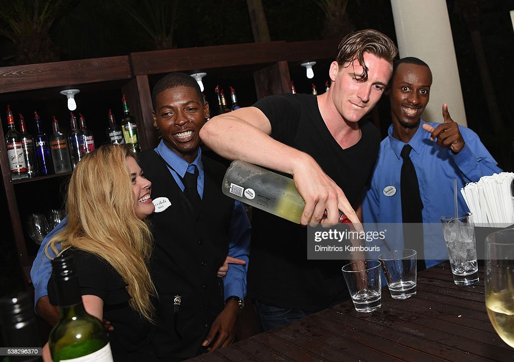 Sasha Pieterse and Hudson Sheaffer attend Celebrity Golf Tournament Afterparty during Sandals Emerald Bay Celebrity Golf Weekend on June 4 2016 in...