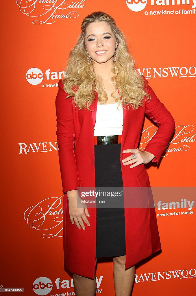 Sasha Pieterse arrives at the 'Pretty Little Liars' celebrates Halloween episode held at Hollywood Forever on October 15, 2013 in Hollywood, California.