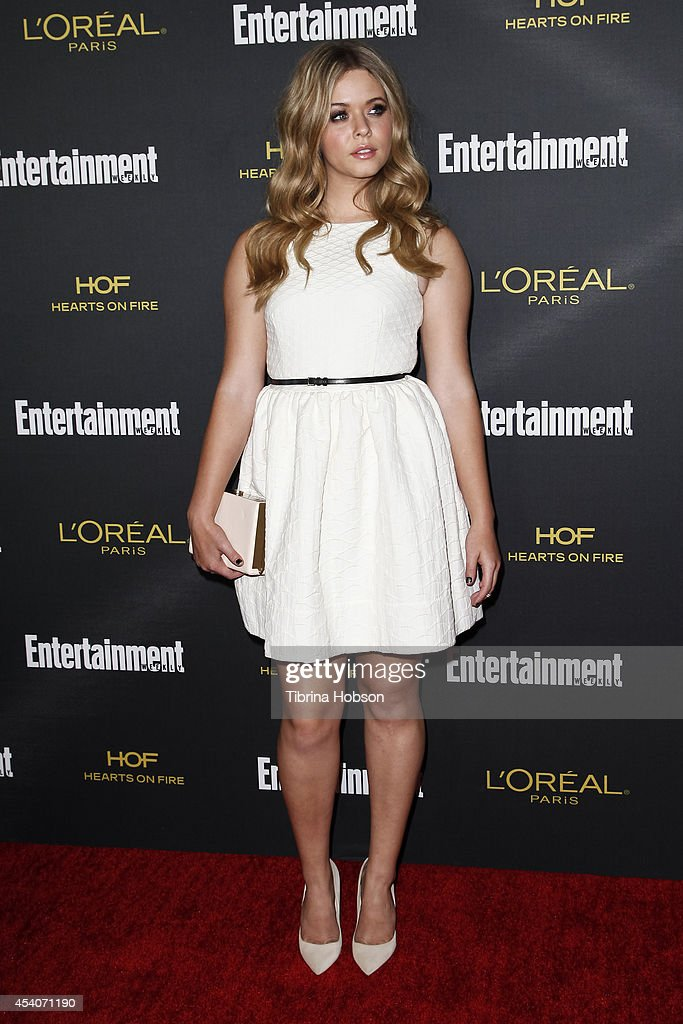 Sasha Pieterse attends Entertainment Weekly's Pre-Emmy party at Fig & Olive Melrose Place on August 23, 2014 in West Hollywood, California.