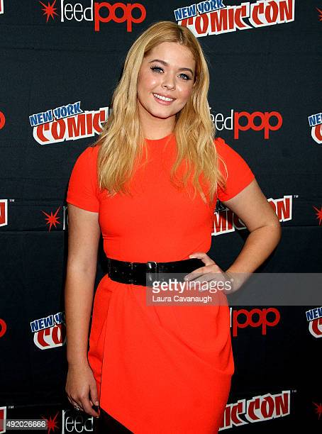 Sasha Pieterse attends New York ComicCon 2015 Day 2 at The Jacob K Javits Convention Center on October 9 2015 in New York City