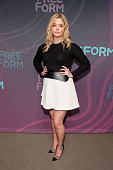Sasha Pieterse attends the 2016 ABC Freeform Upfront at Spring Studios on April 7 2016 in New York City