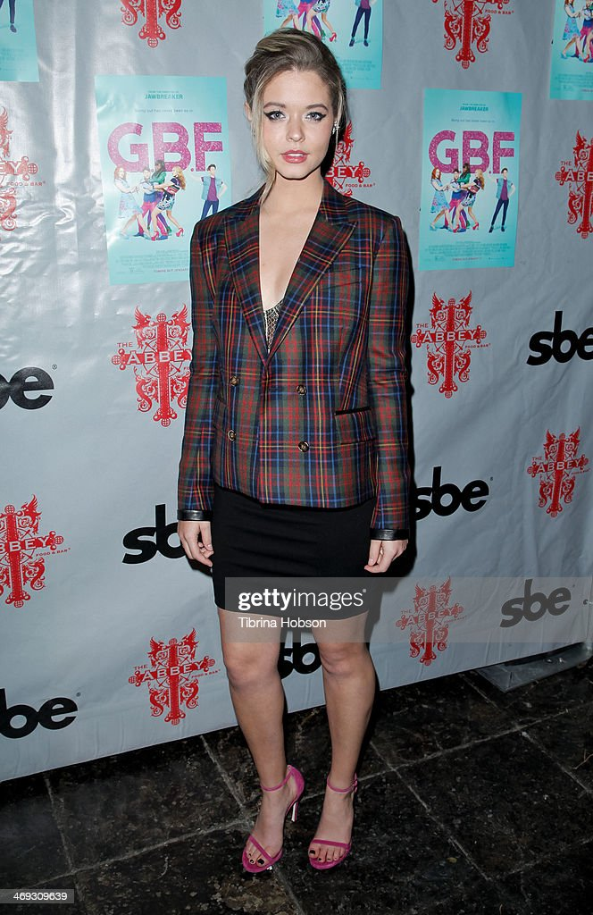<a gi-track='captionPersonalityLinkClicked' href=/galleries/search?phrase=Sasha+Pieterse&family=editorial&specificpeople=2237740 ng-click='$event.stopPropagation()'>Sasha Pieterse</a> attends the 'G.B.F.' DVD release party at The Abbey on February 13, 2014 in West Hollywood, California.
