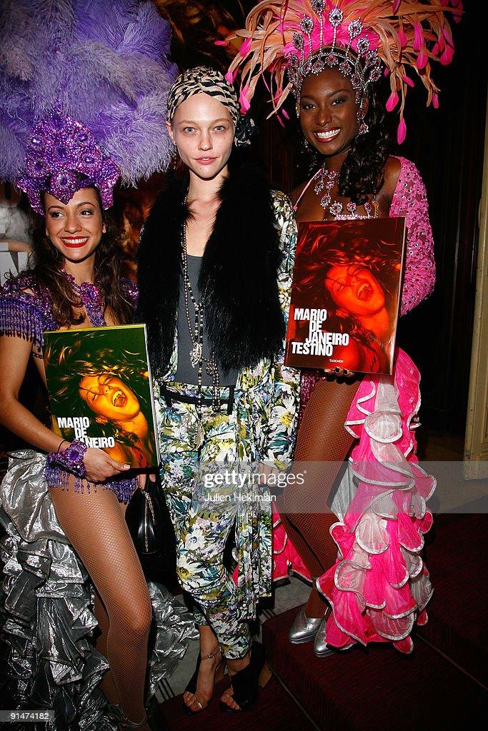 Sasha Pivovarova attends the 'Mario de Janeiro Testino' book launch at Cafe Carmen on October 5 2009 in Paris France