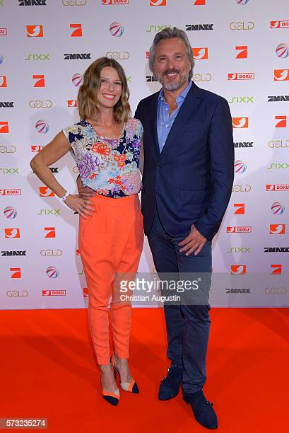 Sasha RossmannYessayan and Michel Sawall attend the photo call for the 2016 programme presentation of TV broadcasters ProSiebenSat1 Media at Cinemaxx...