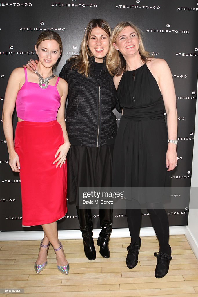 Sasha Ternent, Natalie Hartley and Jacqueline Stuart attend the launch party for Atelier-To-Go at Agua Spa, The Sanderson Hotel on March 21, 2013 in London, England. Atelier-To-Go is a brand-new fashion platform that offers a carefully-curated edit of contemporary labels, with a mix of luxe essentials & must-have trends, to offer a complete, covetable wardrobe.