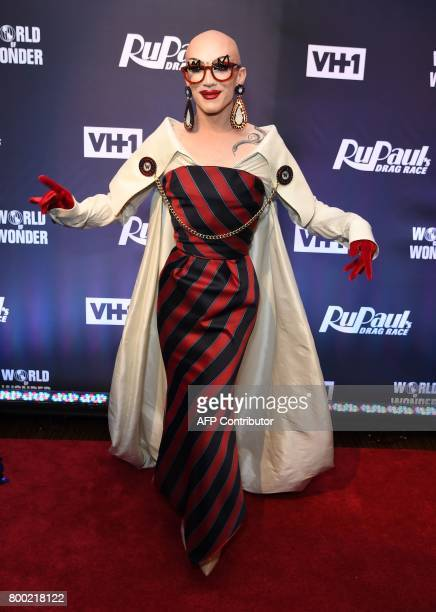 Sasha Velour attends RuPaul's Drag Race Season 9 finale party on June 23 2017 in New York / AFP PHOTO / ANGELA WEISS