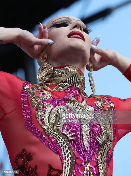 Sasha Velour performs at the 2017 Capital Pride Concert on June 11 2017 in Washington DC