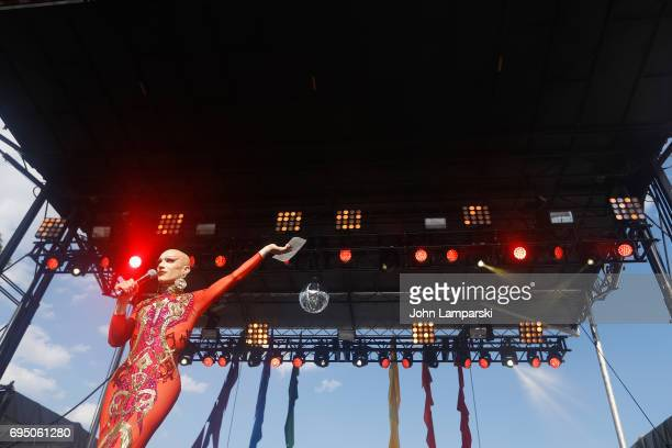 Sasha Velour performs during the 2017 Capital Pride Concert on June 11 2017 in Washington DC