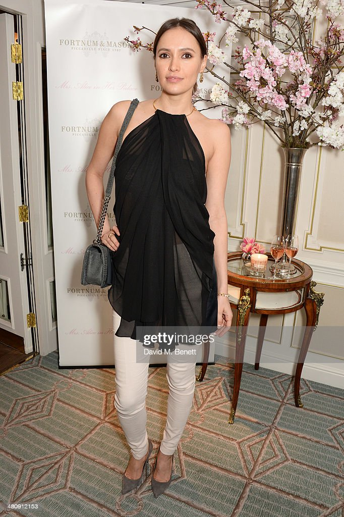 Sasha Volkova attends the launch of 'Mrs. Alice In Her Palace' hosted by Alice Naylor Leyland at Fortnum & Mason on March 27, 2014 in London, England.