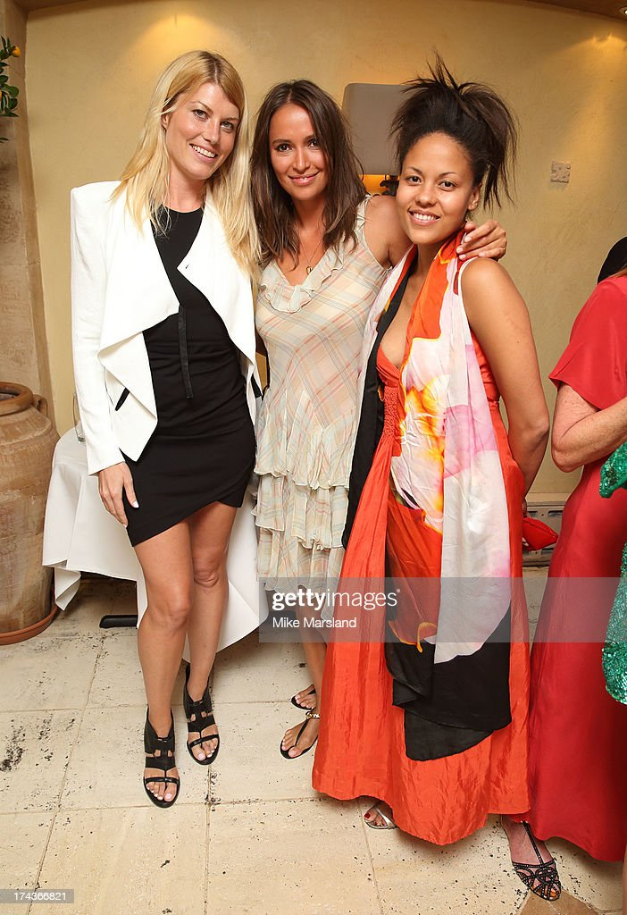 Sasha Volkova, Rachael Barrett and E<a gi-track='captionPersonalityLinkClicked' href=/galleries/search?phrase=Meredith+Ostrom&family=editorial&specificpeople=207011 ng-click='$event.stopPropagation()'>Meredith Ostrom</a> attend Daphne's evening of dinner & dancing at Daphne's on July 24, 2013 in London, England.