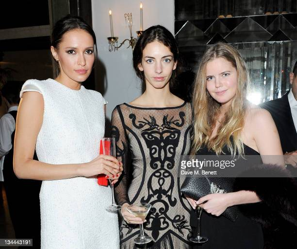 Sasha Volkova Rose Hanbury and Katie Readman attend the Leon Max Winter Dinner and Dance for 'Too Many Women' in support of Breakthrough Breast...