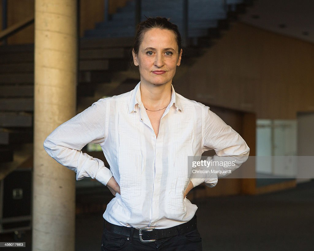 <a gi-track='captionPersonalityLinkClicked' href=/galleries/search?phrase=Sasha+Waltz&family=editorial&specificpeople=825331 ng-click='$event.stopPropagation()'>Sasha Waltz</a> poses after the press conference in the 'Berliner Festspiele' on December 13, 2013 in Berlin, Germany.