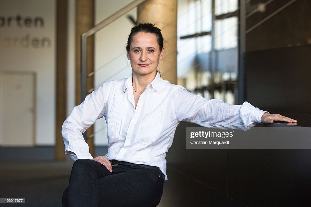 Sasha Waltz poses after the press conference in the 'Berliner Festspiele' on December 13, 2013 in Berlin, Germany.