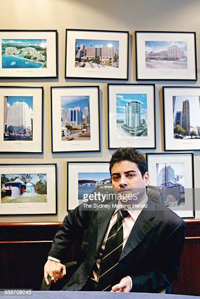 Sashah Ghani talking about his career in property valuation 20 September 2005 SMH Picture by EDWINA PICKLES