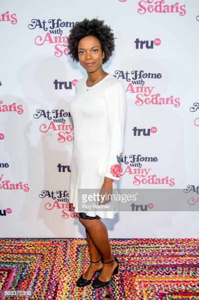 Sasheer Zamata attends 'At Home With Amy Sedaris' New York Screening at The Bowery Hotel on October 19 2017 in New York City