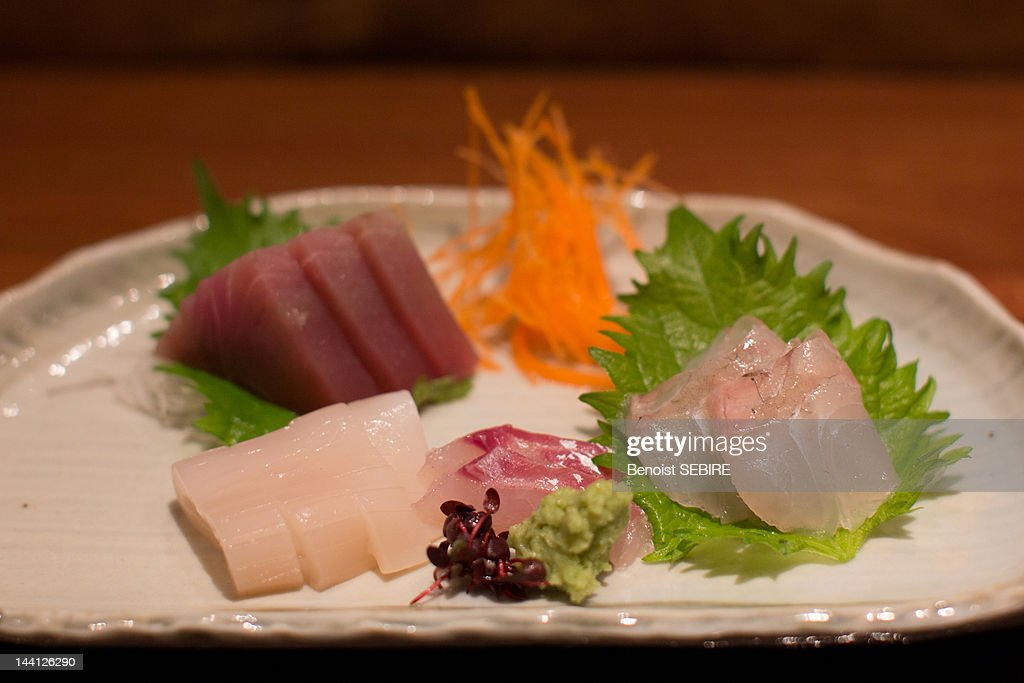 Sashimi on plate : Stock Photo