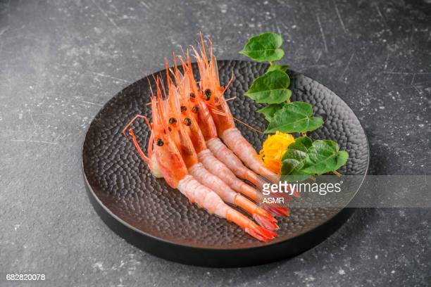 Sashimi on the blackbackground