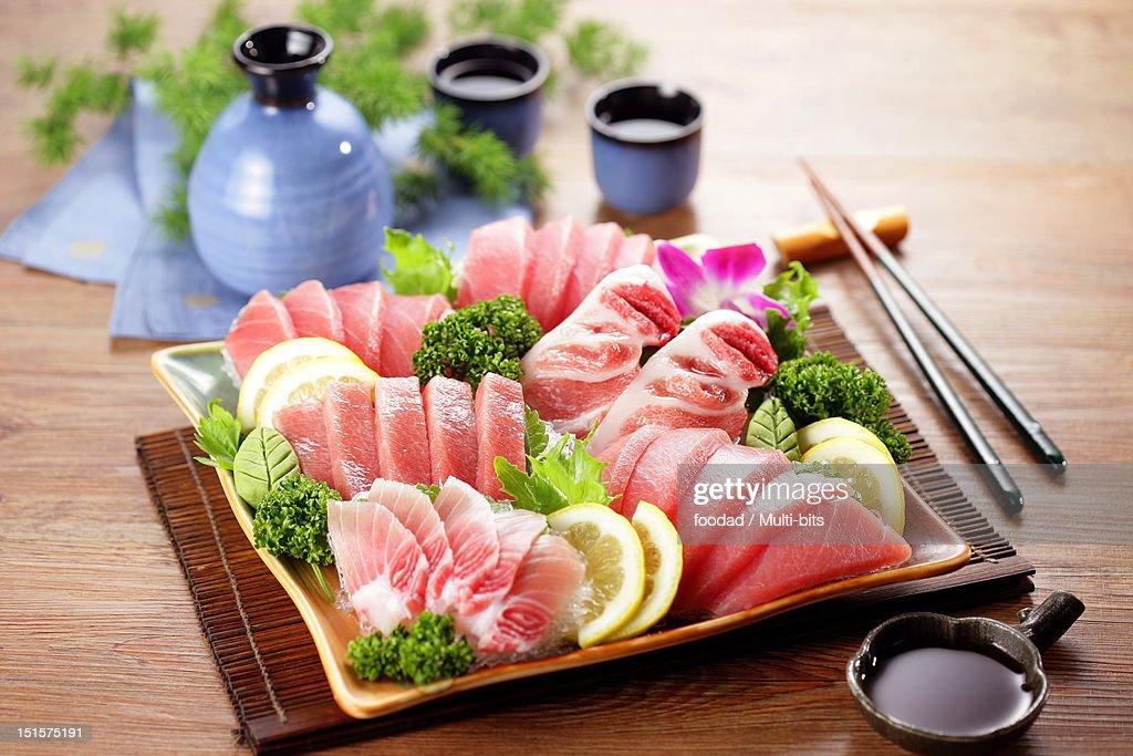 Sashimi platter, Tuna