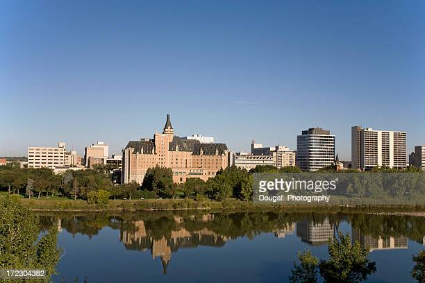 Saskatoon Riverbank With Bessborough Hotel