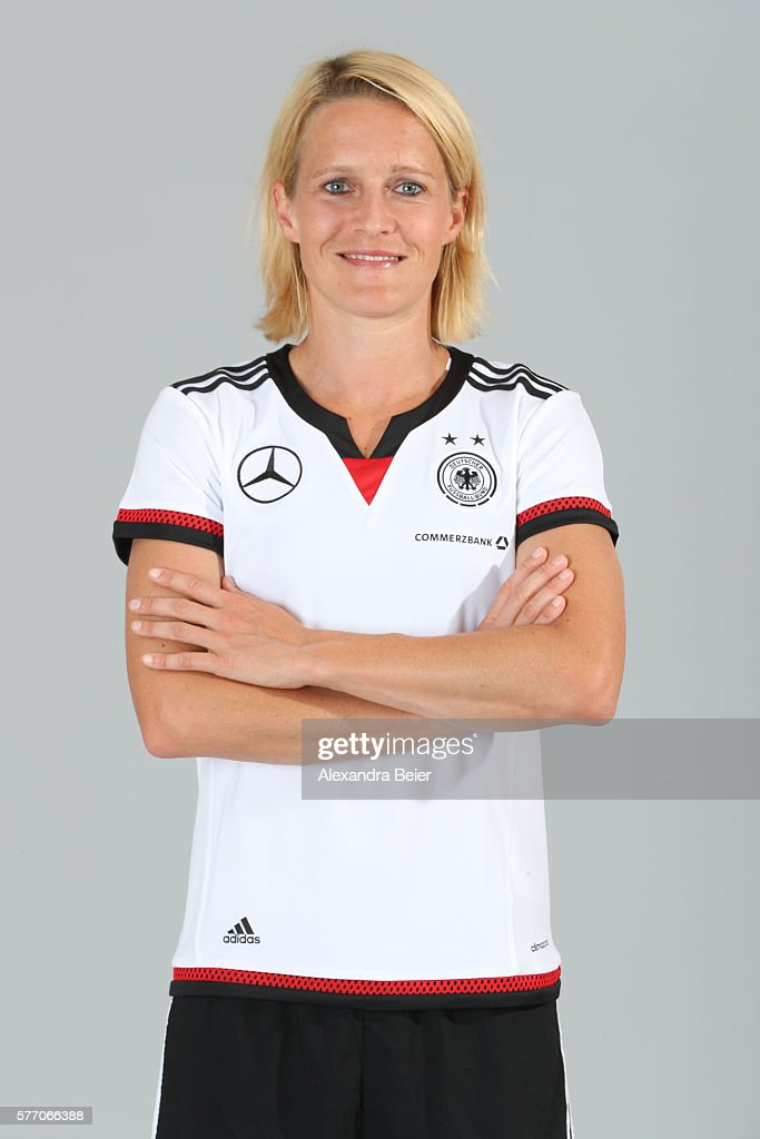 Saskia Bartusiak of the German women's national football team poses during the team presentation on June 21, 2016 in Grassau, Germany.