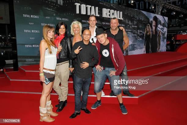 Saskia Beecks Daniel Krause Ole Peters Anne WŸnsche Fernando Jose della Vega Martin W and Pia Tillmann attend the German premiere of 'Total Recall'...