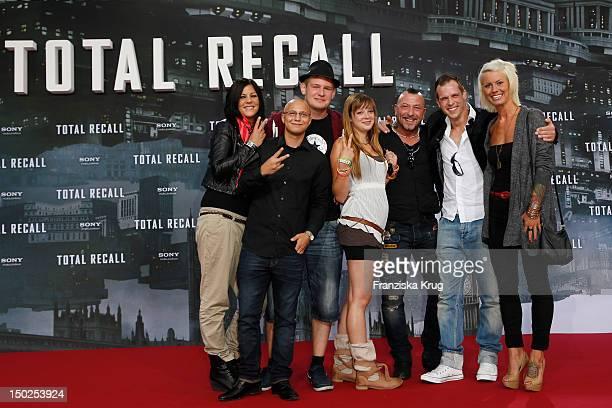 Saskia Beecks Daniel Krause Ole Peters Anne Wuensche Fernando Jose della Vega Martin W and Pia Tillmann attend the German premiere of 'Total Recall'...