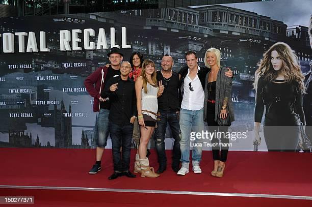 Saskia Beecks Daniel Krause Ole Peters Anne Wuensche Fernando Jose della Vega Martin W and Pia Tillmann attends the 'Total Recall' Germany Premiere...